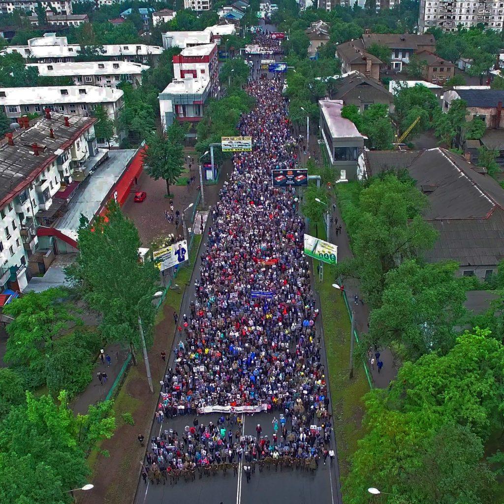 """Марш """"Бессмертный полк"""" в Бишкеке 9 мая 2016 года"""