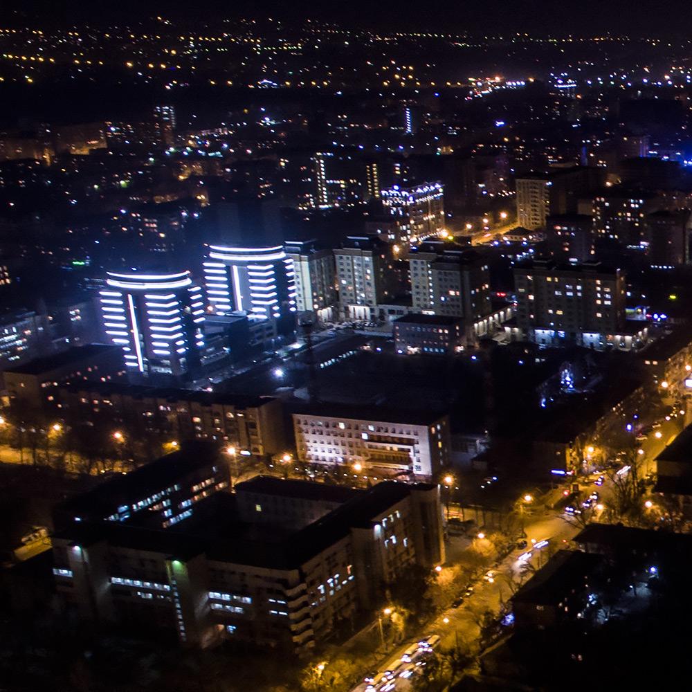 Бишкек ночью