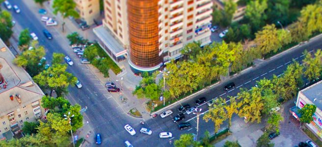 Перекресток Токтогула-Манаса в Бишкеке