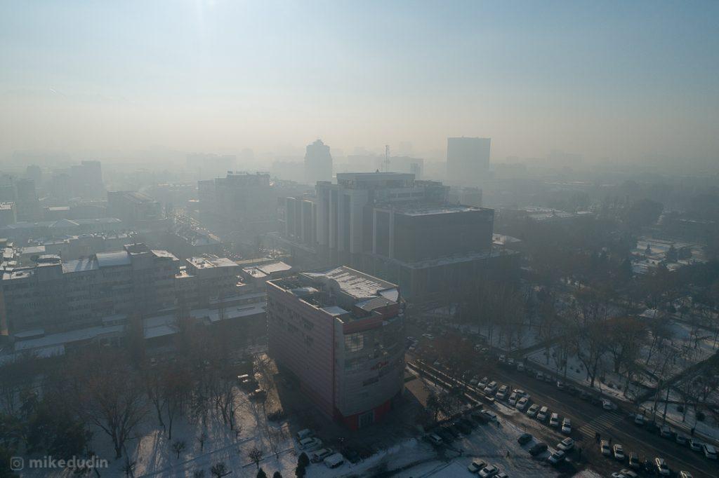 Вид на смог в районе ЦУМа